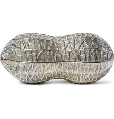 Foundwell Vintage Peanut-Shaped Silver-Plated Novelty Box