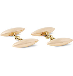Foundwell Vintage Torpedo 15-Karat Rose Gold Cufflinks