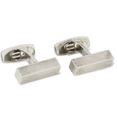 Foundwell Vintage - Axel Holm Engine-Turned Sterling Silver Cufflinks