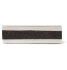 Foundwell Vintage Wood and Sterling Silver Tie Clip