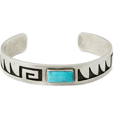 Foundwell Vintage Sterling Silver and Turquoise Cuff