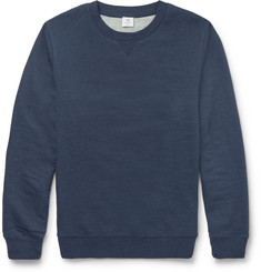 Sunspel - Slim-Fit Loopback Stretch-Cotton Sweatshirt