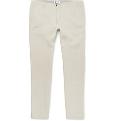 NN07 - New Simon Slim-Fit Linen Trousers