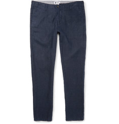 NN07 New Simon Slim-Fit Linen Trousers