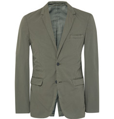 NN07 Green Soho Slim-Fit Stretch-Cotton Blazer