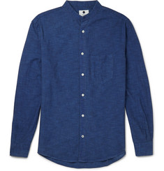 NN07 Devon Grandad-Collar Cotton Shirt