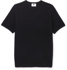 NN07 Collin Ribbed Cotton-Blend Jersey T-Shirt