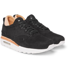 Nike - Air Max 1 Royal Leather-Trimmed Suede Sneakers