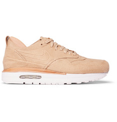 Nike Air Max 1 Royal Leather-Trimmed Suede Sneakers