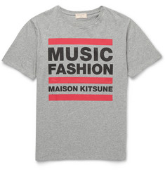 Maison Kitsuné Music Fashion Slim-Fit Printed Cotton-Jersey T-Shirt