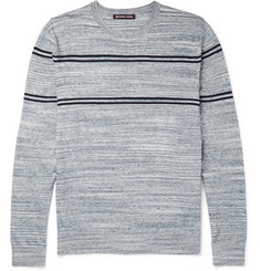 Michael Kors Jaspe Slim-Fit Striped Knitted Cotton Sweater