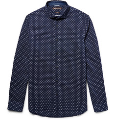 Michael Kors - Slim-Fit Printed Cotton-Poplin Shirt