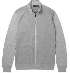 Michael Kors Knitted Cotton Zip-Up Cardigan