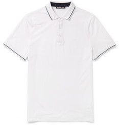 Michael Kors Slim-Fit Contrast-Tipped Cotton-Piqué Polo Shirt
