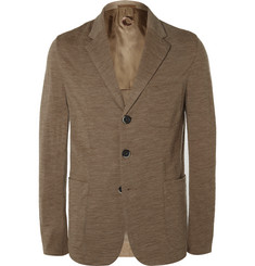 Barena Sand Slim-Fit Unstructured Wool and Cotton-Blend Blazer