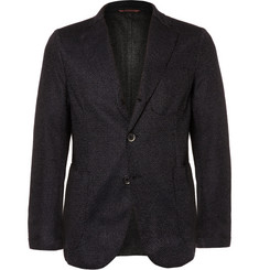 Barena Navy Slim-Fit Unstructured Wool and Cashmere-Blend Blazer