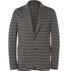 Barena - Striped Knitted Virgin Wool Blazer