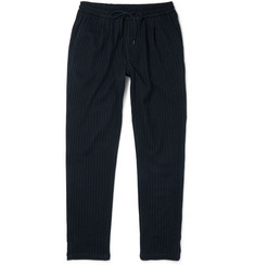 Barena Tapered Pinstriped Virgin Wool and Cotton-Blend Trousers