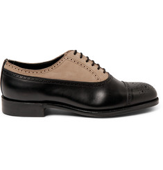 Grenson + Foot the Coacher Suede and Leather Brogues