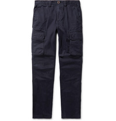 Incotex - Slim-Fit Cotton-Twill Cargo Trousers