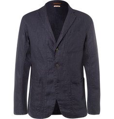 KAPITAL - Blue Slim-Fit Unstructured Linen Blazer