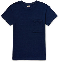 KAPITAL Slim-Fit Patchwork-Panelled Cotton-Jersey T-Shirt