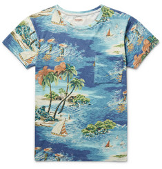 KAPITAL Slim-Fit Printed Cotton-Jersey T-Shirt