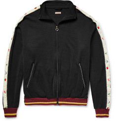 KAPITAL Embroidered Loopback Cotton-Blend Jersey Jacket