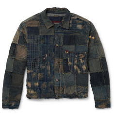 KAPITAL Boro Slim-Fit Patchwork Denim Jacket