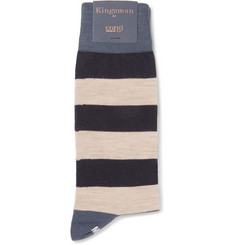 Kingsman - Striped Wool-Blend Socks