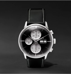 Junghans - Meister Chronoscope Stainless Steel and Leather Watch