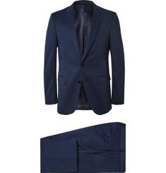 Hugo Boss - Navy Slim-Fit Stretch-Cotton Suit