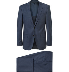 Hugo Boss Navy Slim-Fit Wool Three-Piece Suit