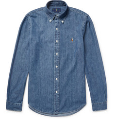 Polo Ralph Lauren - Slim-Fit Washed Cotton-Chambray Shirt