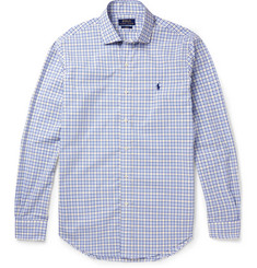 Polo Ralph Lauren Cutaway-Collar Checked Cotton Shirt