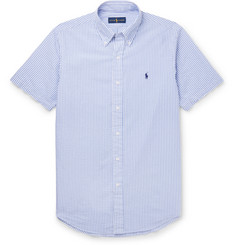 Polo Ralph Lauren Slim-Fit Striped Cotton-Seersucker Shirt