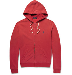 Polo Ralph Lauren Fleece-Back Cotton-Blend Jersey Zip-Up Hoodie