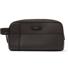 Hugo Boss Aspen Full-Grain Leather Wash Bag
