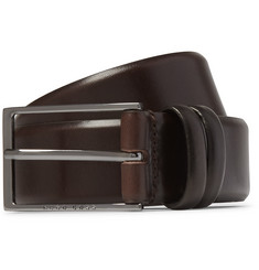 Hugo Boss - Brown 3.5cm Carmello Leather Belt