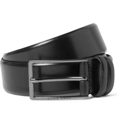 Hugo Boss - 3.5cm Black Carmello Leather Belt
