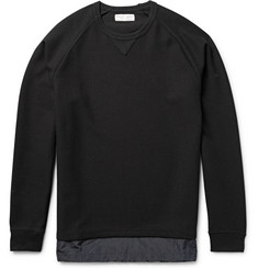 Marvy Jamoke - Shell-Trimmed Textured-Knit Sweatshirt