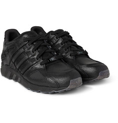 adidas Originals + Pusha T Equipment Running Guidance Textured-Leather Sneakers