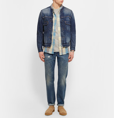 nonnative - Washed-Denim Zip-Up Jacket
