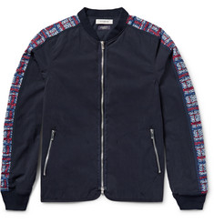 nonnative Contrast-Trimmed Cotton-Blend Gabaradine Bomber Jacket