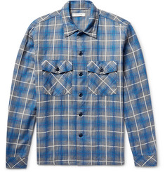 nonnative Trooper Slim-Fit Checked Cotton-Blend Shirt