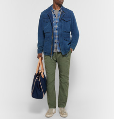 nonnative - Trooper Slim-Fit Checked Cotton-Blend Shirt