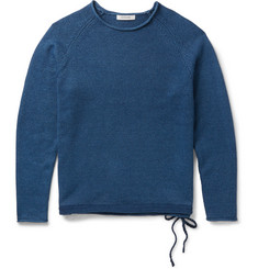 nonnative Indigo-Dyed Cotton Sweater