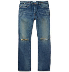 nonnative - Slim-Fit Distressed Selvedge Denim Jeans