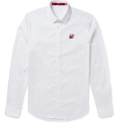 McQ Alexander McQueen - Slim-Fit Stretch Cotton-Blend Poplin Shirt