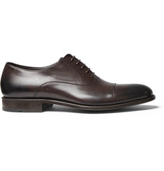 Hugo Boss Stockholm Cap-Toe Burnished-Leather Oxford Shoes